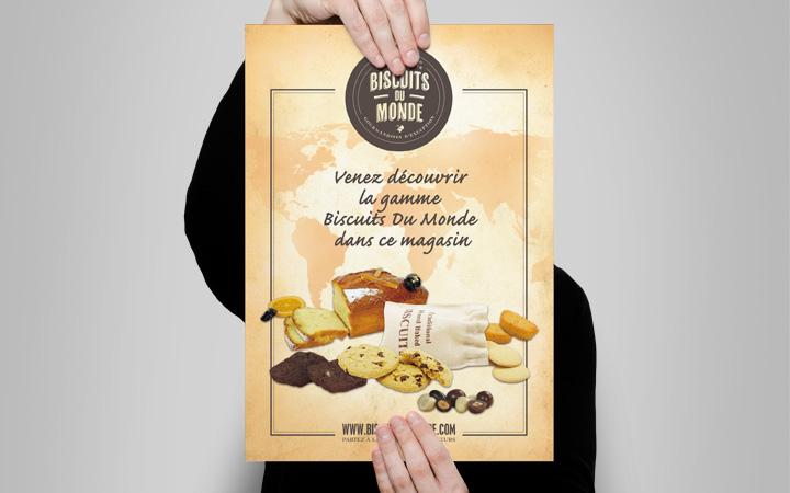 Création affiche A3 - Biscuits du monde