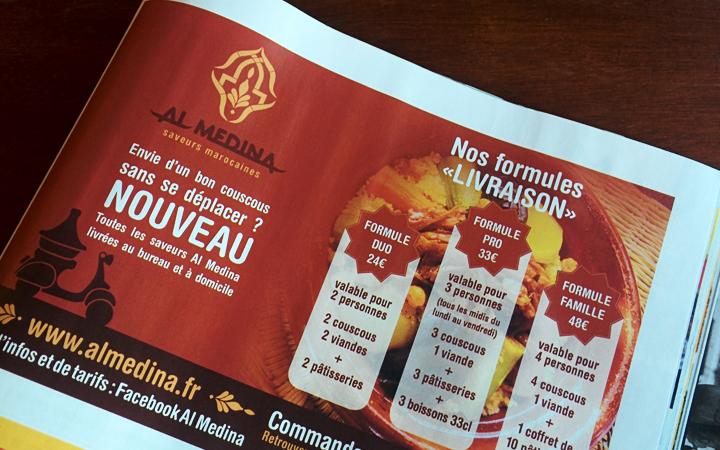 Encart publicitaire dans Orléans Mag