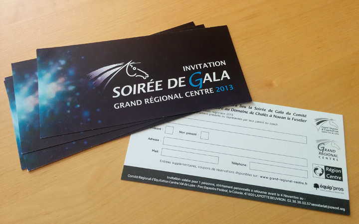 Carton d'invitation au Gala du Grand Régional Centre